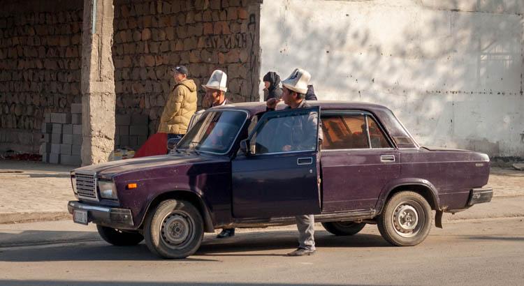 Kierowcy w Kirgistanie